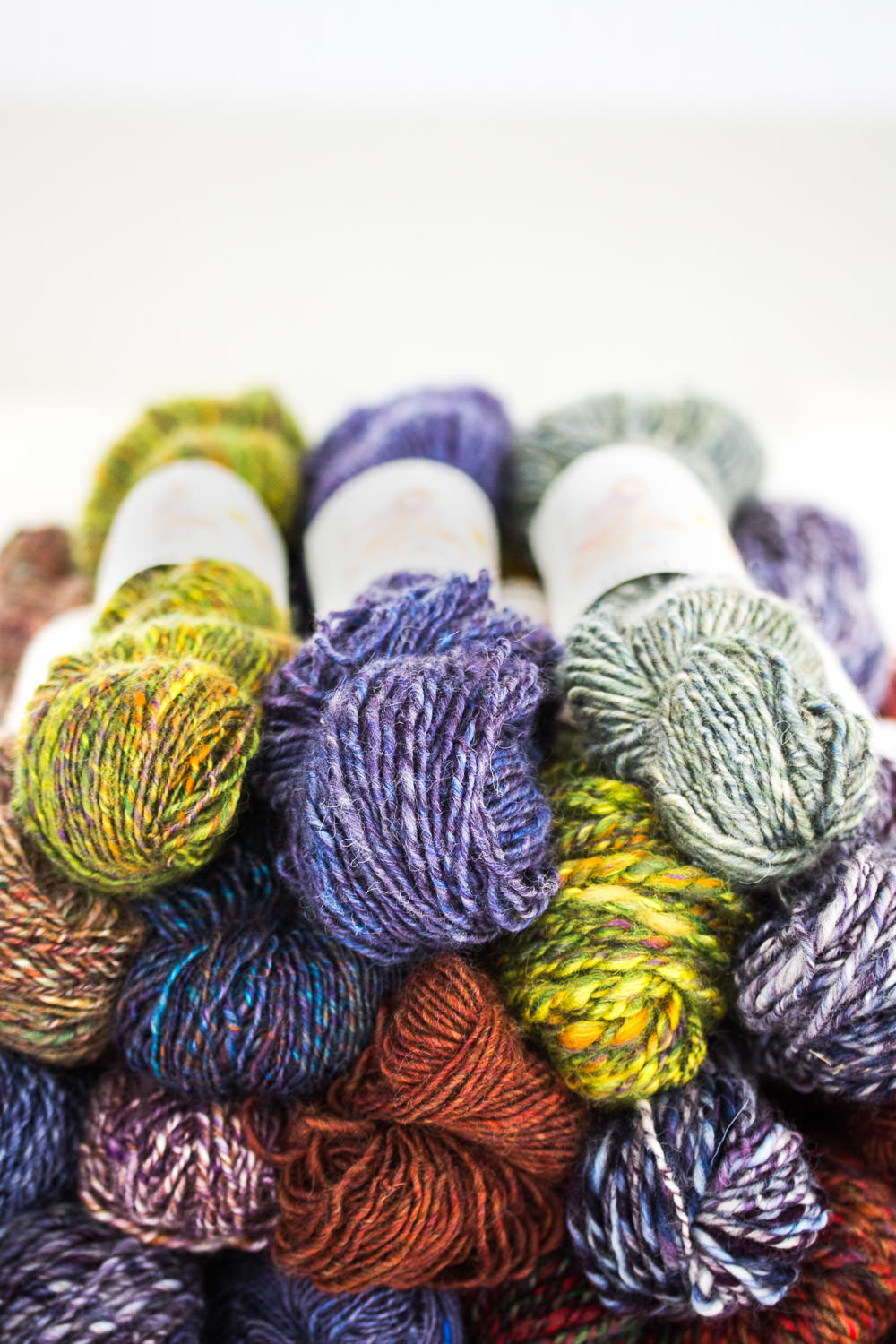 Hand spun British yarns, hand dyed British wool