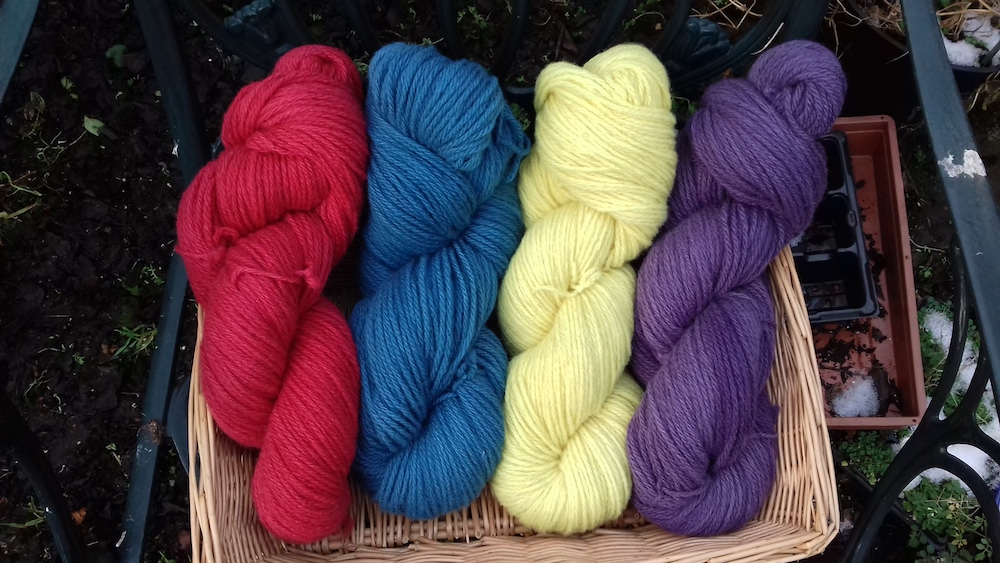 Some of the beautiful colours Fransje achieves with natural dyes