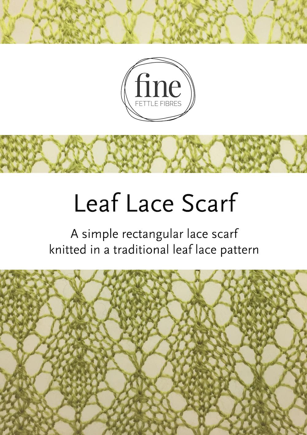 Dorable Leaf Lace Scarf Knitting Pattern Colección - Manta de Tejer ...