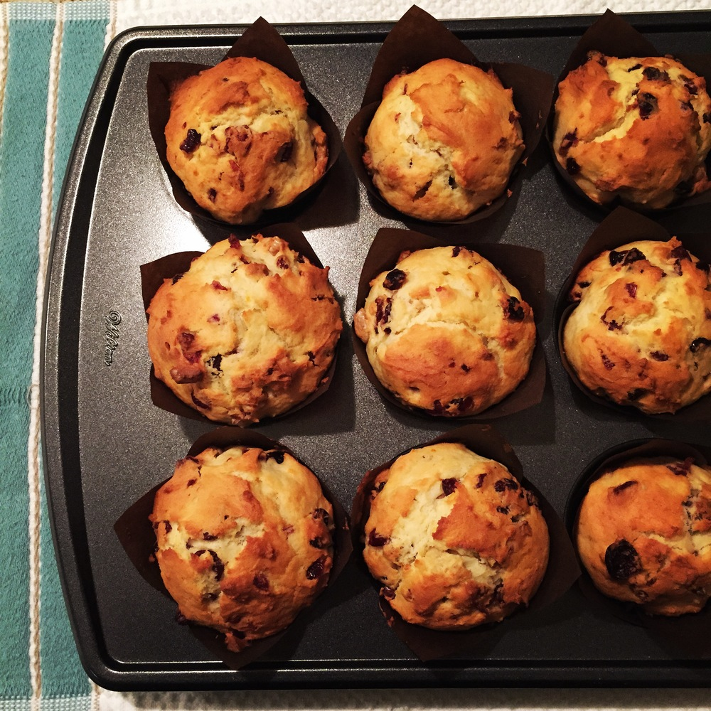 ORANGE - CRANBERRY WALNUT MUFFINS