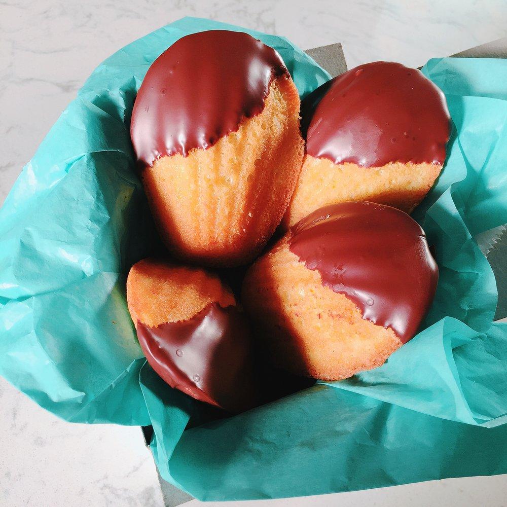 CHOCOLATE MADELEINES (VANILLA BEAN, ORANGE OR LEMON)