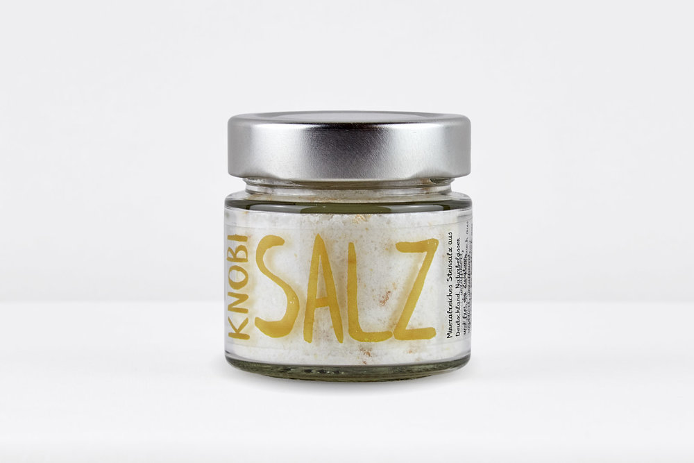 Knobi-Salz , Steinsalz mit Knoblauch 120g