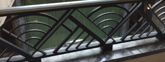 Art deco wrought iron abounds