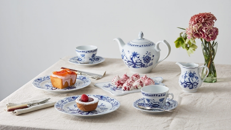 Table laid for tea with our Onion Pattern range