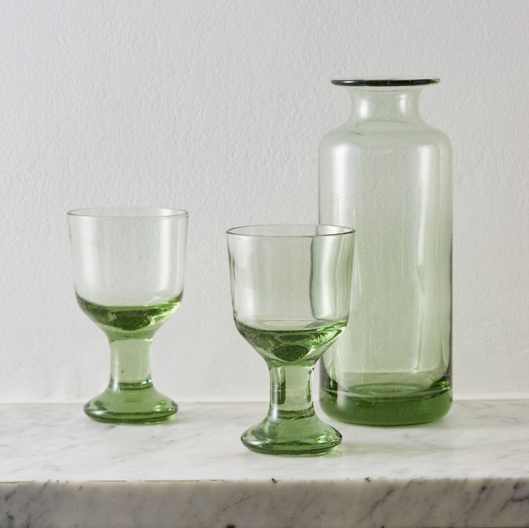 Forest Glass Decanter and Wine Glasses £72