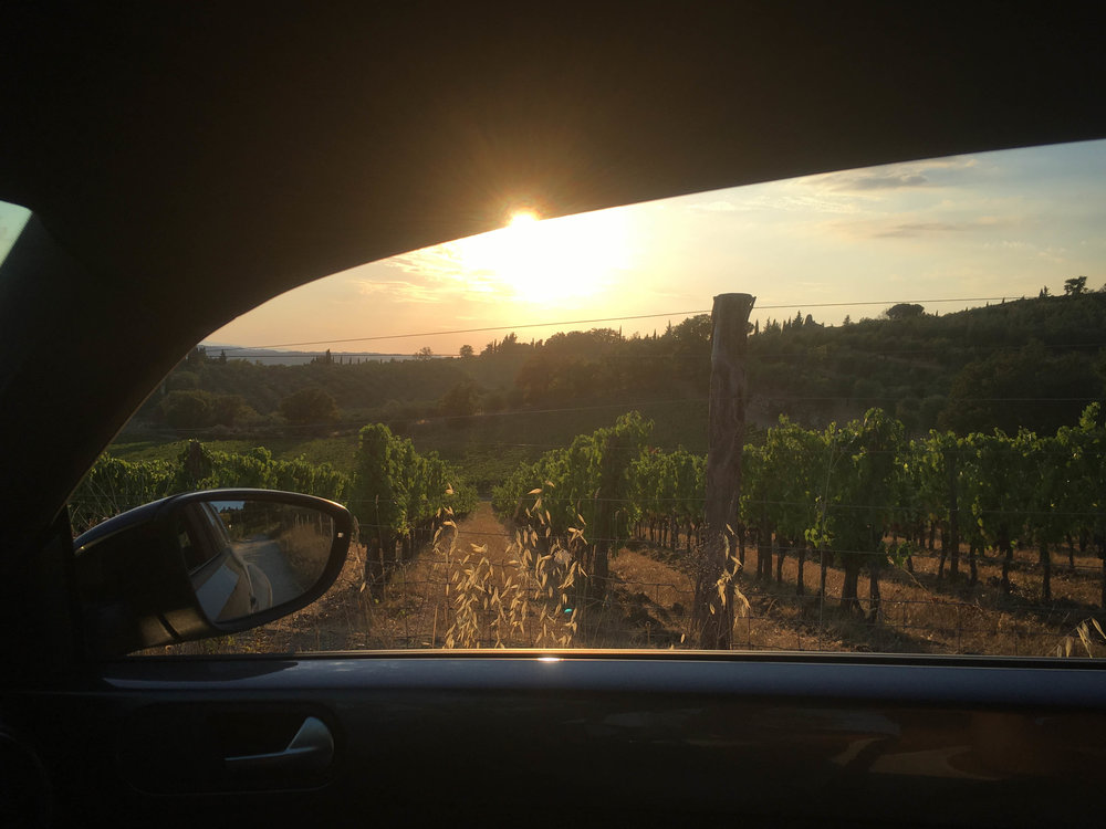Rented car in Tuscany