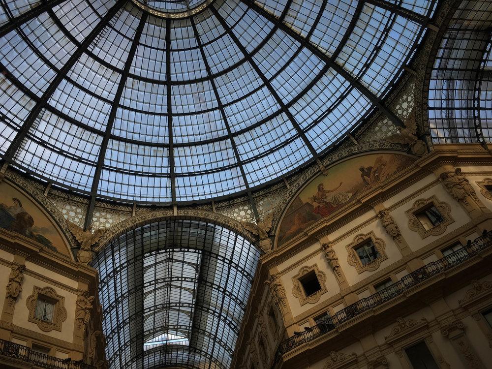Hittin' the mall in Milan