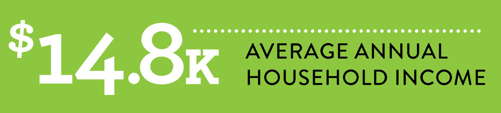 Low Average Household Income