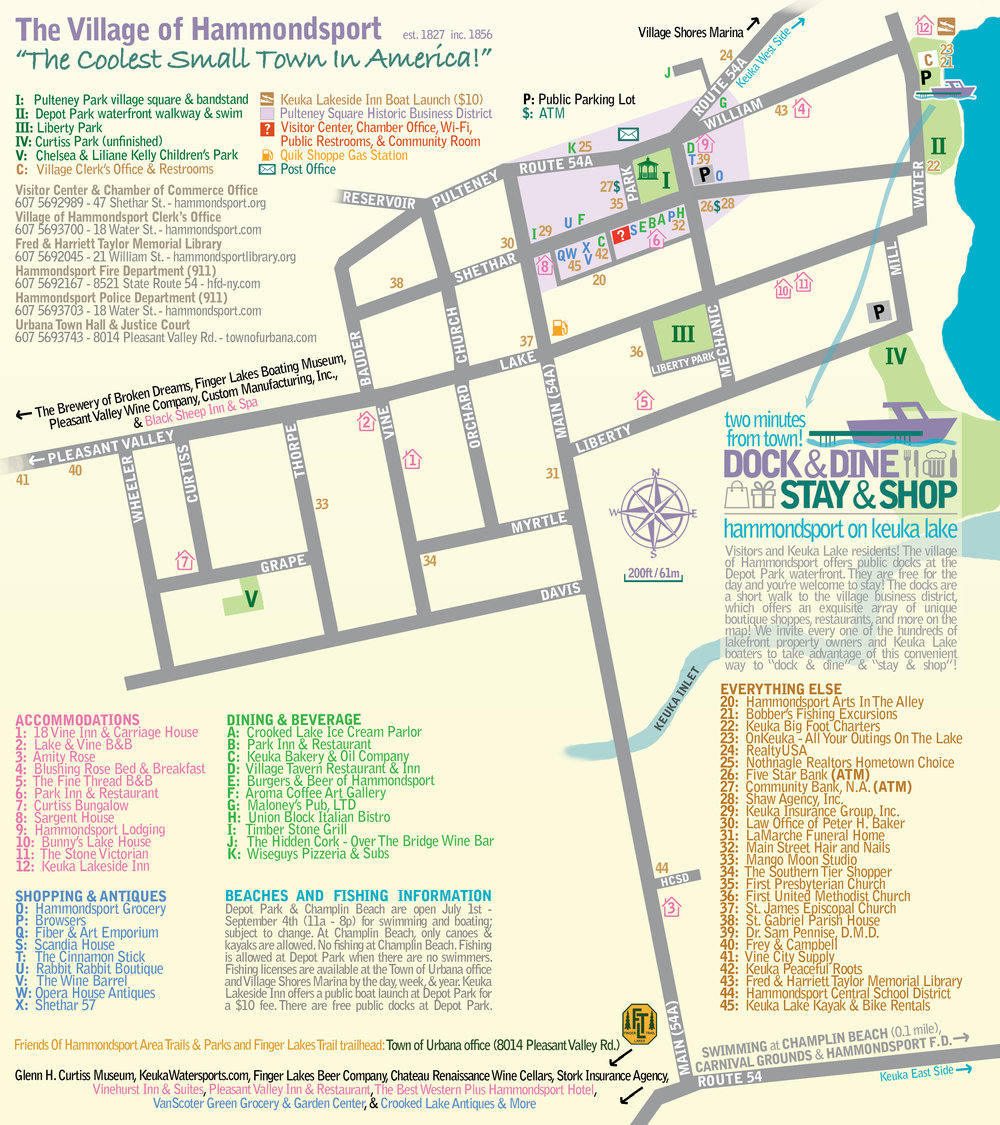 Hammondsport village map. Click to view full-size.