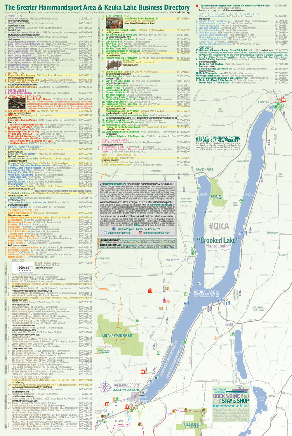 Keuka Lake area map. Click to view full-size. It's recommended that you download the file to enable high-resolution viewing.