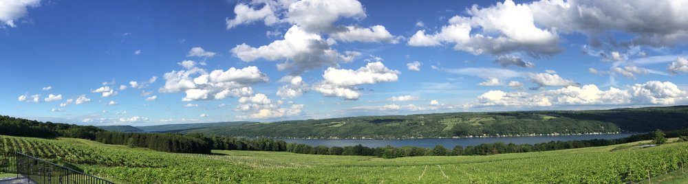 Keuka Lake's beautiful west side overlook
