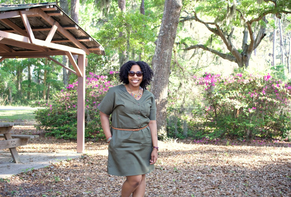 DIY Olive Green Dress: McCalls 7115 Pattern