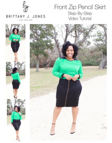 Front Zip Pencil Skirt Tutorial — Brittany J Jones