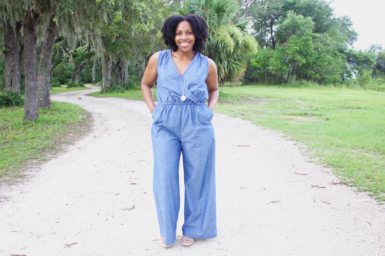 Chambray Wide-Leg Jumpsuit: Simplicity 8178