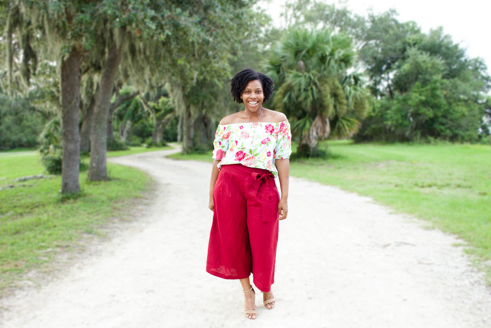 Off The Shoulder Top & Wide Leg Culottes