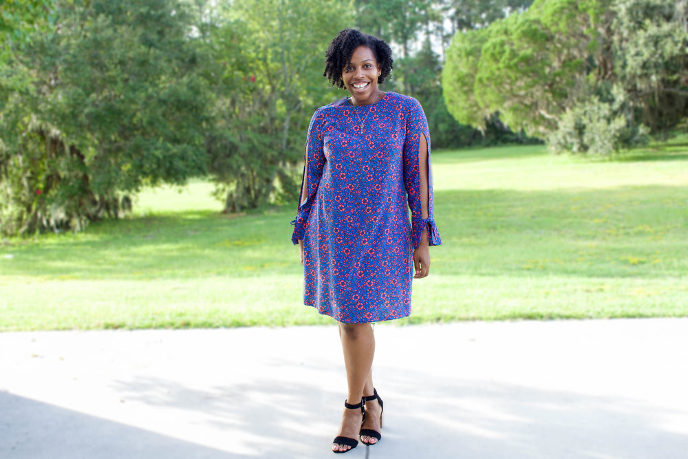 Floral Split Sleeve Dress