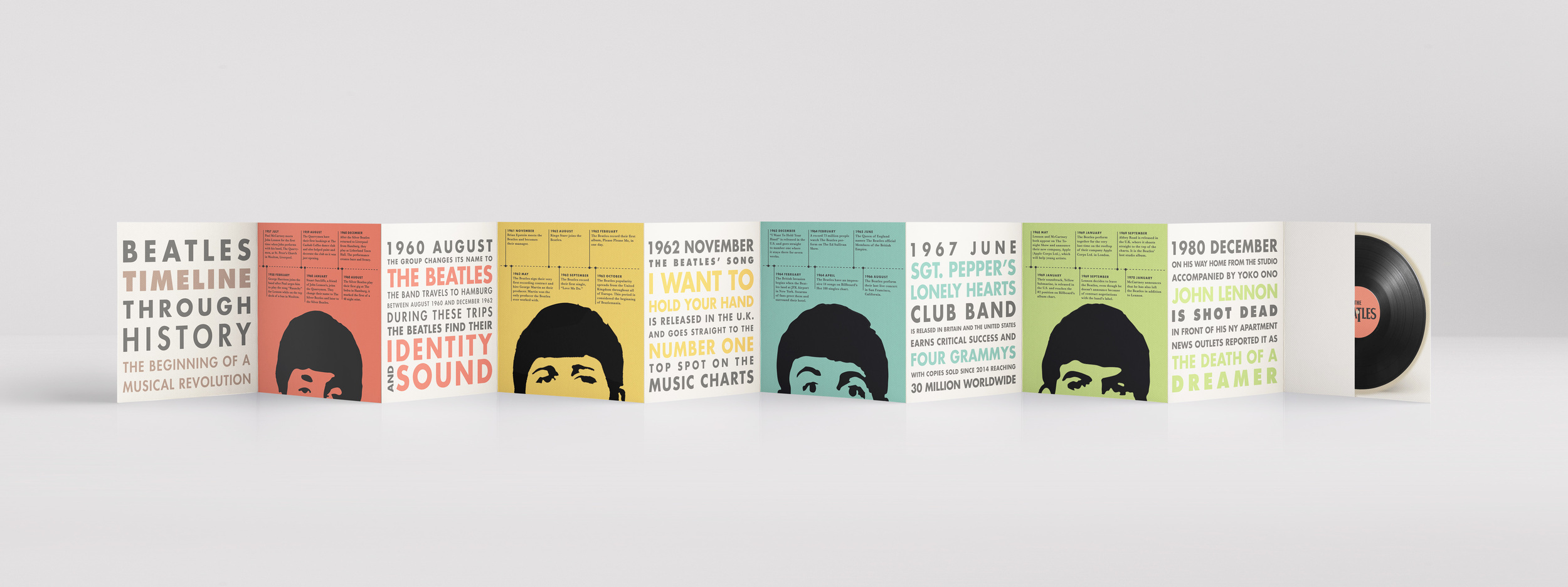 Beatles Back Mockup Website