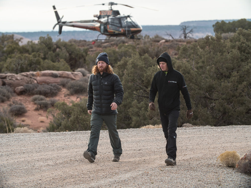 Scott Rogers and Mitch Potter near Moab, Utah. December 2017.