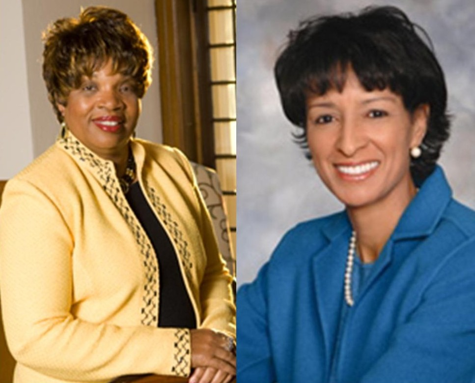Francince McNairy (left): MU's president in 2012.  Aminta Breaux: MU's VP of Student Affairs in 2012