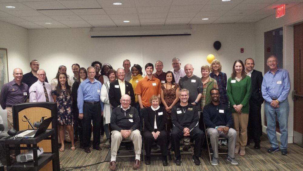 Athletes and coaches from the first combined reunion, held October 13, 2018