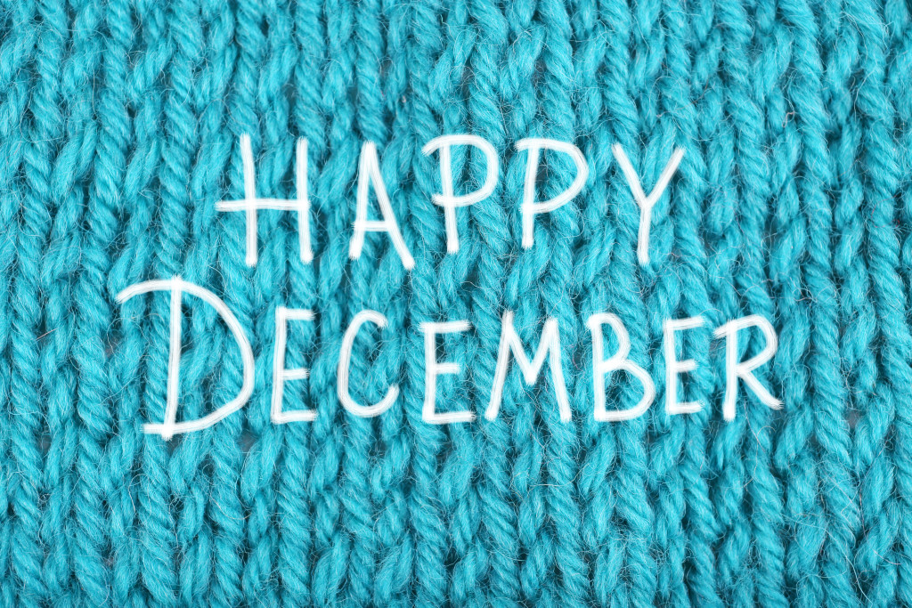 Happy December, greeting card