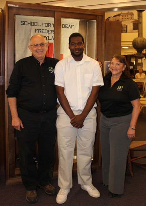 Pictured L to R are Steve Chafitz (President of e-End), Brandon Garrett, and Arleen Chafitz (CEO of e-End)