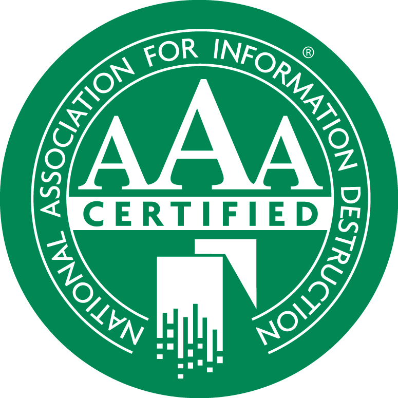 e-End is AAA Certified by NAID for data destruction