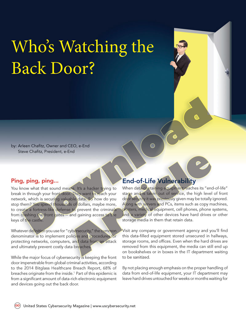 Who's-Watching-the-Back-Door---Article-by-Arleen-&-Steve-Chafitz on end-of-life vulnerability
