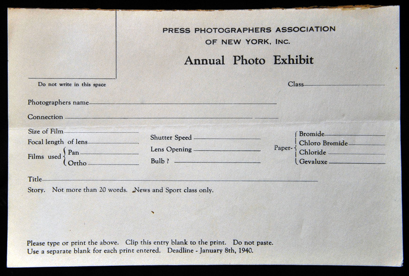 1940 Contest Form