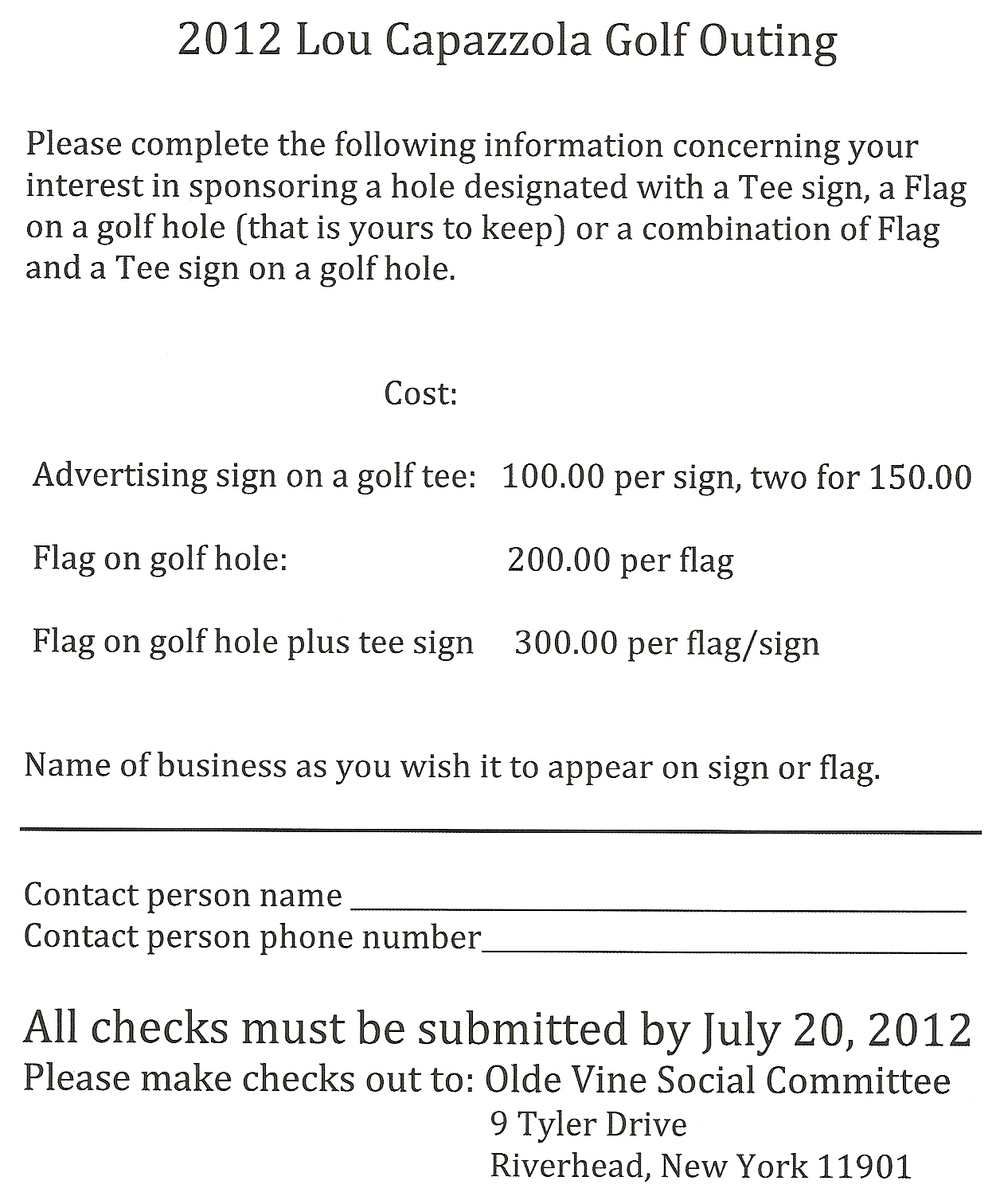 1st annual lou capozzola golf outing new york press photographers june 05 thecheapjerseys Image collections