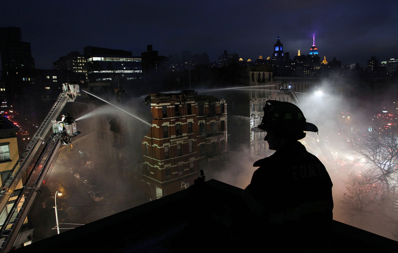 "HM - Chad Rachman, New York Post - ""East Village Fire"""