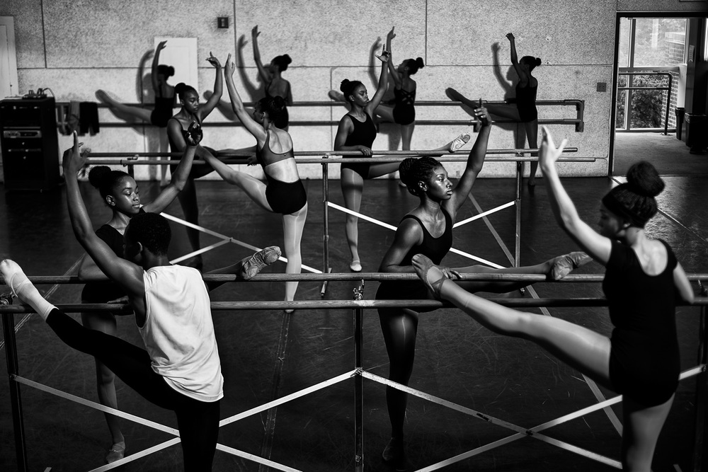 "Exhibit Award - James Keivom, Daily News - ""Ballet program at Dance Theatre of Harlem"""