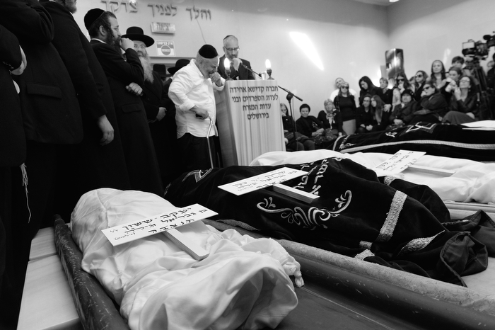 Seven young children of the Sasoon family killed in a fire in their Midwood home on Saturday, were laid to rest in a cemetery in Israel. 3-19-15