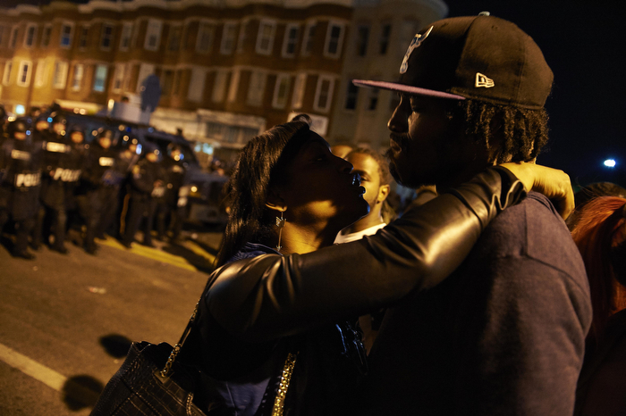 Aftermath following the death of Freddie Gray