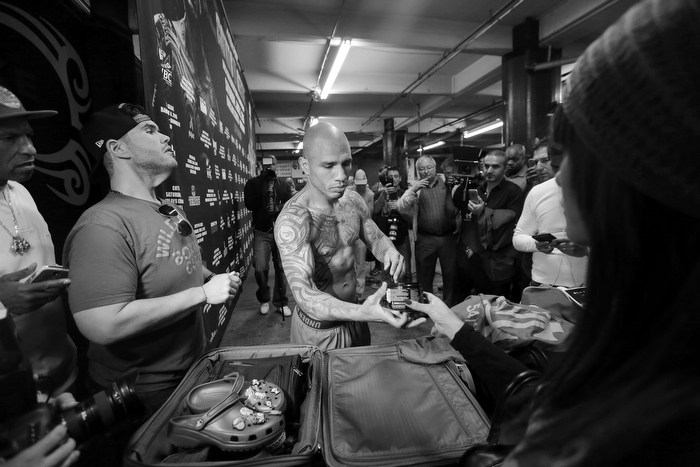 """Boricua Boxer Miguel Cotto training in Brooklyn"""
