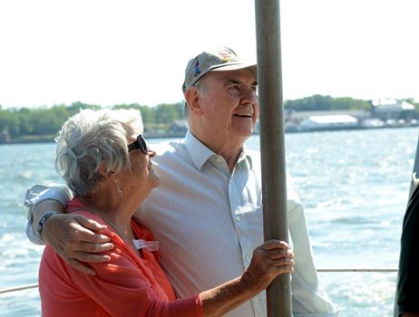 Barry Finn was our guest this summer at the fireboat ride commemorating his father's 1958 line-of-duty death while photographing for the Journal-American, and accepted his father's posthumous award on behalf of the family.