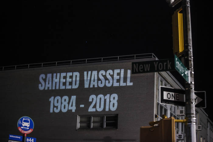 Protesters came out to rally and march in memory of Saheed Vassell, a man who was shot unarmed by the NYPD the day before, at the 71st Precinct in Brooklyn on Thursday, April 5, 2018. Vassell was a mentally disturbed individual beloved by the community and was killed when an officer opened fire when he looked as if he had a firearm but turned out to be a piece of metal.