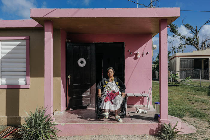 February 12, 2018: Punta Santiago, Humacao Puerto Rico - Ivette Estrada, 55, at her home, almost drowned during Hurricane Maria and now suffers from PTSD and depression. After a catastrophic hurricane, rates of mental illness continue to rise.