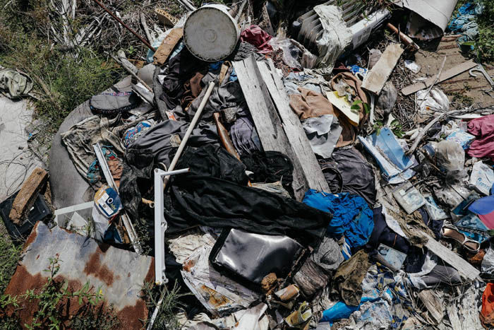 ebruary 12, 2018: Punta Santiago, Humacao, Puerto Rico -  Albanidia Cataran's belongings at her house which was destroyed. Cataran, 49, lost her house during the hurricane and suffers from severe depression, diabetes, Crohn's. Nearly 5 months after Hurricane Maria reached the island around 1/3 of Puerto Rico is still without power.  After a catastrophic hurricane, rates of mental illness continue to rise.
