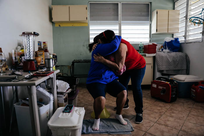 February 12, 2018: Punta Santiago, Humacao, Puerto Rico -  Albanidia Cataran, 49, lost her house during the hurricane and suffers from severe depression, diabetes, Crohn's. Nearly 5 months after Hurricane Maria reached the island around 1/3 of Puerto Rico is still without power.  After a catastrophic hurricane, rates of mental illness continue to rise.