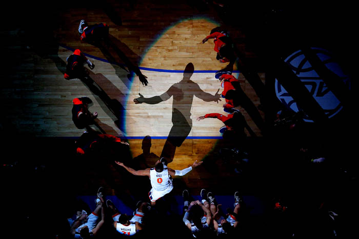 Fifteen teams competed in the 2018 Atlantic Coast Conference Tournament from Tuesday, March 6 through Saturday, March 10 at the Barclays Center in Brooklyn, NY. Virginia Cavaliers guard Devon Hall (0) is introduced before playing the North Carolina Tar Heels in the championship game.