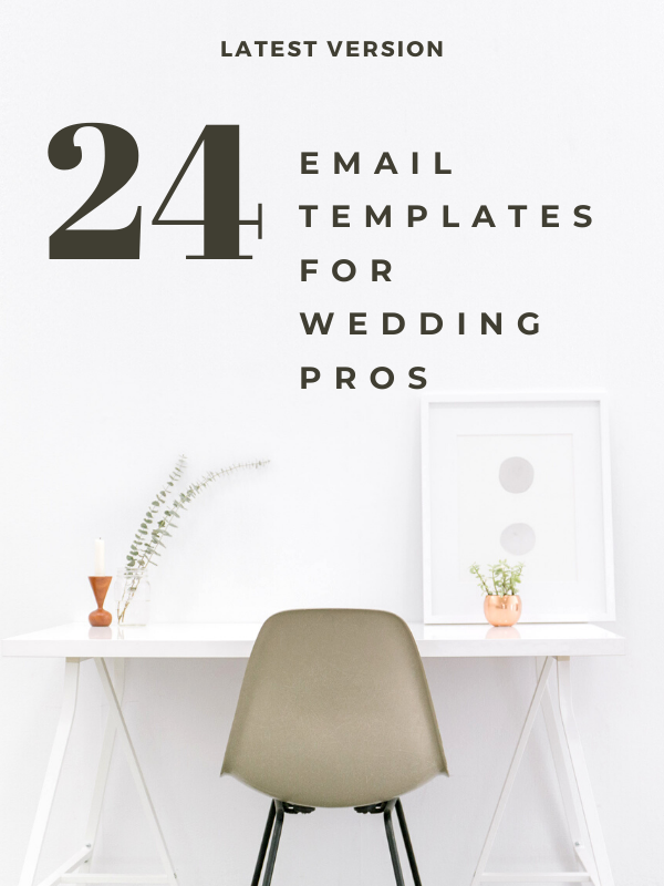 Email Templates For Wedding Planners To Streamline Your Email