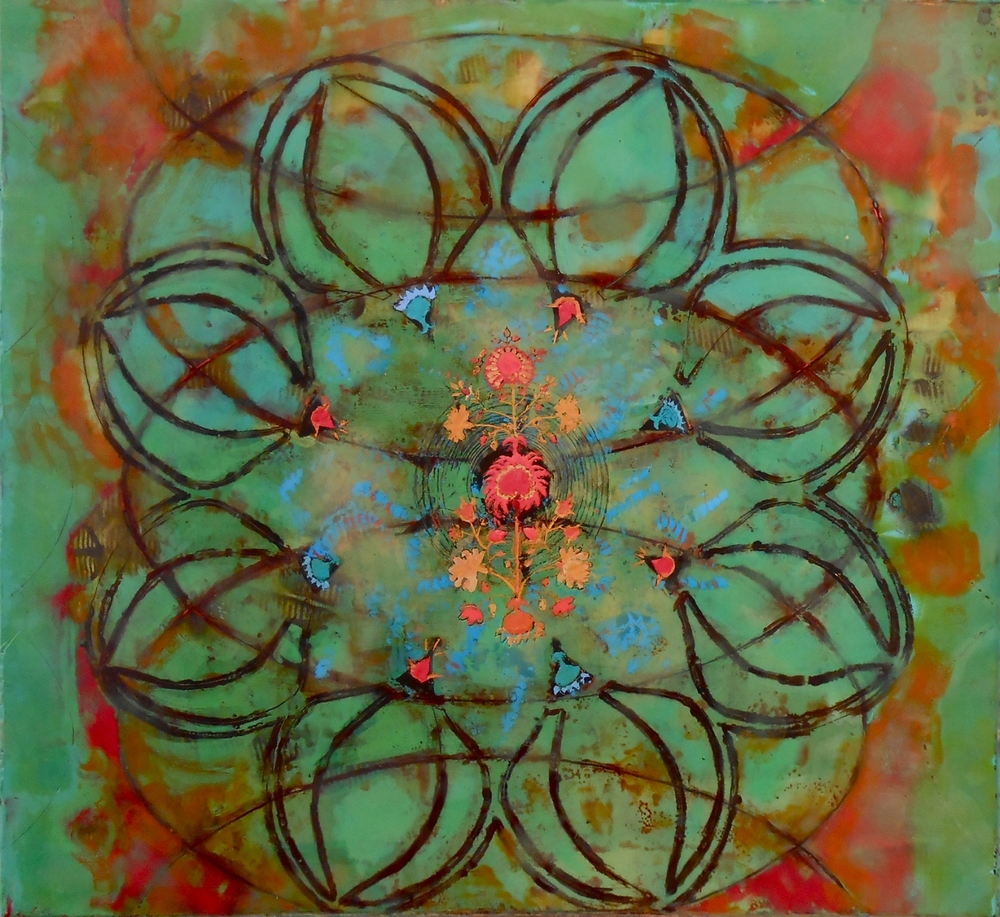 1.Ligorner,Beyond the veil,encaustic,23x25%22.jpg