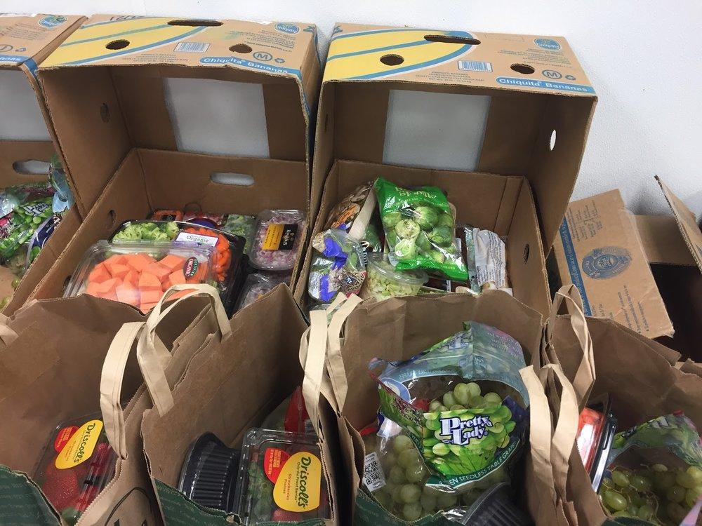 Home Deliveries contain a selection of perishable and nonperishable food.