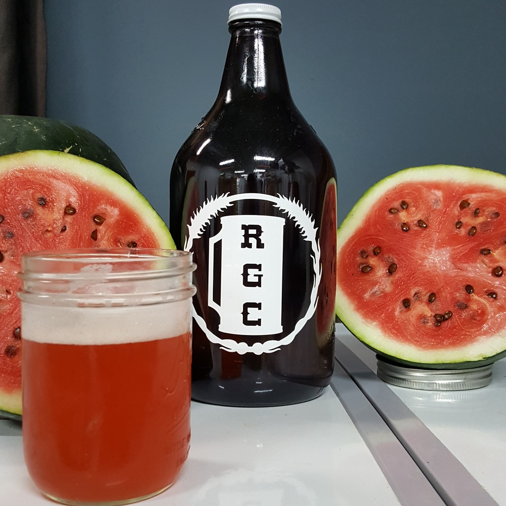 """Watermelon Crack"" from Apocalypse Brew Works and Sugar Baby watermelons grown at the People's Garden in the Shawnee neighborhood of Louisville ."