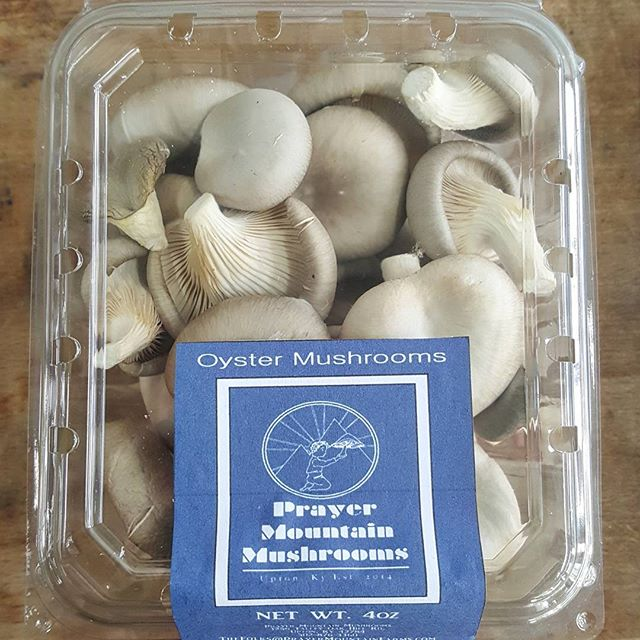We sure do loves these oyster mushrooms from Prayer Mountain Farms.