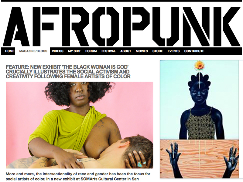 McClellan, C. B. (2016, July 1). FEATURE: New exhibit 'The Black Woman is God' crucially illustrates the social activism and creativity following female artists of color. Retrieved from http://www.afropunk.com/profiles/blogs/feature-new-exhibit-the-black-woman-is-god-crucially-illustrates?xg_source=activity
