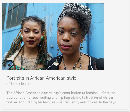"""Portraits in African American Style."" San Francisco Chronicle. N.p., 28 July 2016. Web. 01 Aug. 2016"
