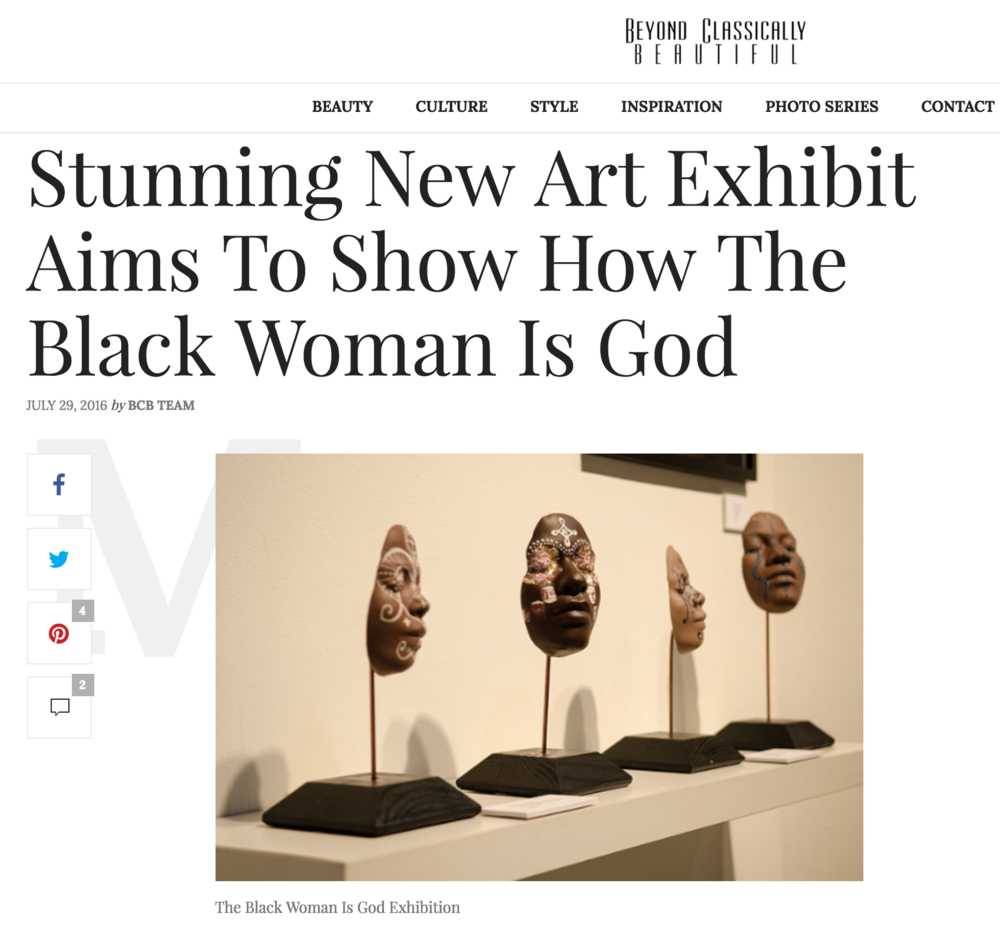 Stunning New Art Exhibit Aims To Show How The Black Woman Is God