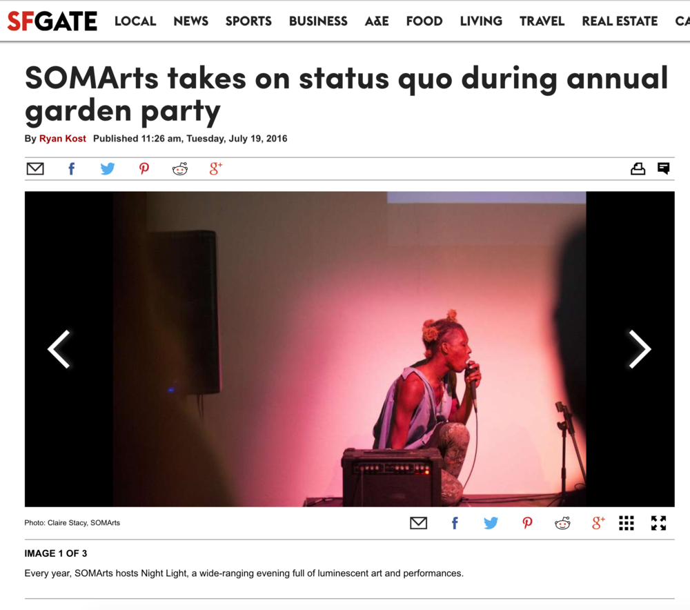 SOMArts takes on status quo during annual garden party